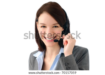 Attractive young business woman - stock photo