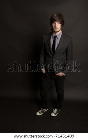 Attractive Young Businessman in Suit & Tie - stock photo