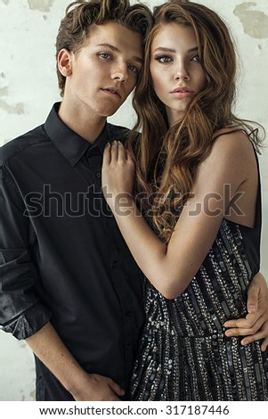 Attractive young fashion couple