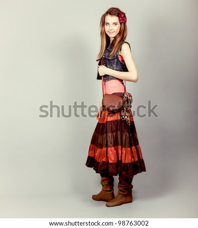 Attractive young fashion model - stock photo