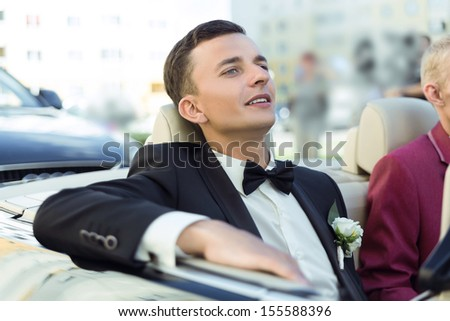 Attractive young groom ready to get married