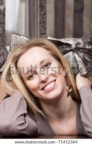 Attractive young lady - stock photo