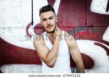 Attractive young man - stock photo