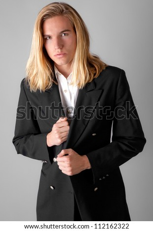 Attractive Young Man in Blazer - stock photo