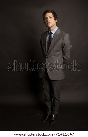 attractive young man in business attire