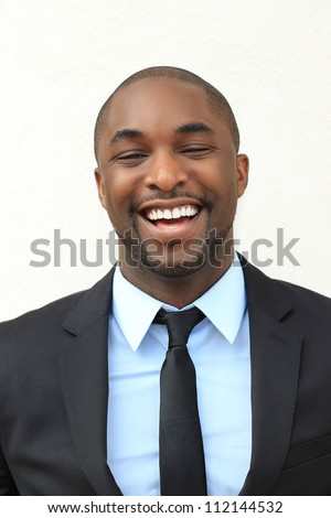 Attractive, Young Professional African American Businessman Smiling and Laughing - stock photo