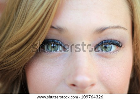 Attractive, Young Professional Business Woman Smiling and Looking At the Camera - stock photo
