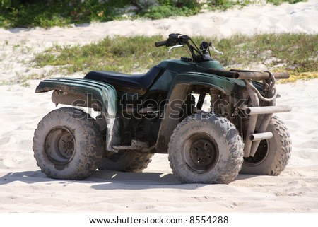 ATV on the beach in Mexico. - stock photo