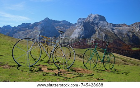 Aubisque pass in french Pyrenees