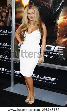 Aubrey O'Day at the Los Angeles special screening of 'G.I. Joe: The Rise Of The Cobra' held at the Grauman's Chinese Theatre in Hollywood on August 6, 2009.