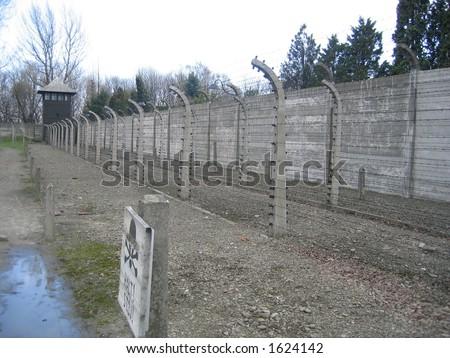 Auchwitz Prisoner of War Camp - stock photo