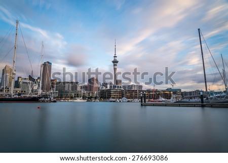 Auckland City - stock photo