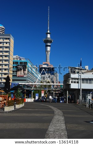 Auckland city center, New Zealand - stock photo