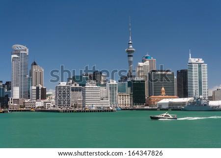 Auckland cityscape - stock photo