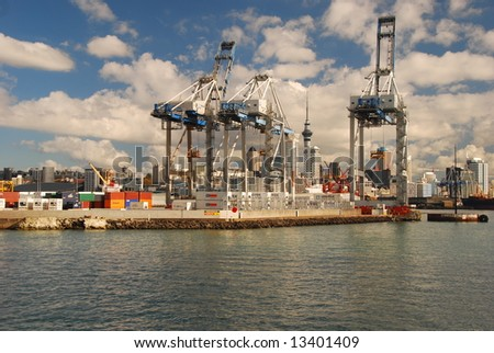 Auckland Ferguson Container Terminal - stock photo