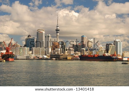 Auckland Harbor - stock photo