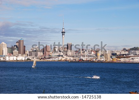 Auckland harbor, New Zealand - stock photo