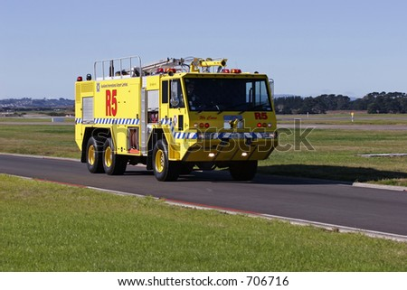 Auckland International Airport Emergency Tender - stock photo