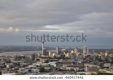 auckland new zealand february 8 2015 view of the city skyline as