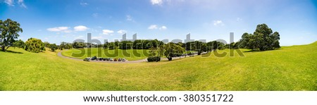 Auckland New Zealand green city park - stock photo