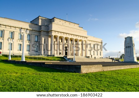 AUCKLAND, NEW ZEALAND - JULY 29: Auckland War Memorial Museum on 29 July, 2013. The museum is the most popular visitor attraction in Auckland. Its collections concentrate on New Zealand history.