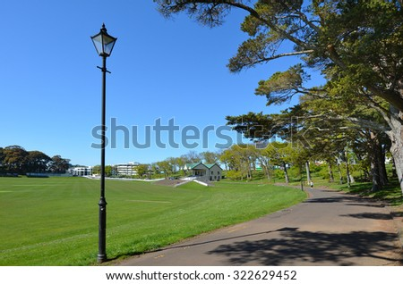 Outdoor clock post on golf course stock photo 192696449 for Landscaping courses nz