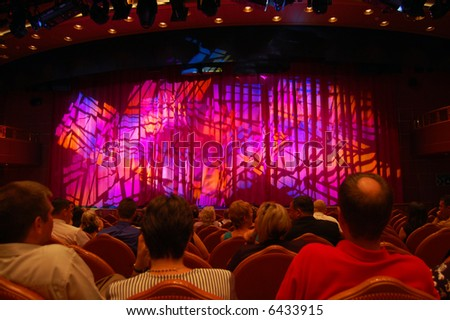 Audience in Theater - stock photo