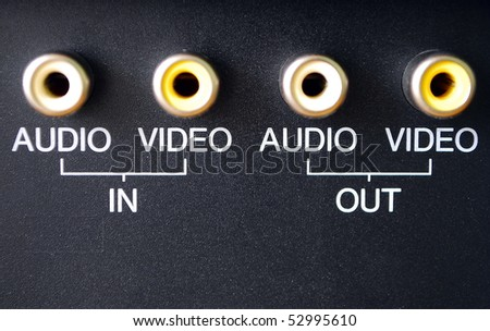 Audio and video inputs - stock photo