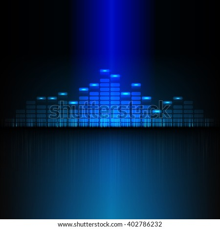 audio blue equalizer, visualization equalizer, sound recorder, technical eq