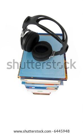 Audio books - stock photo