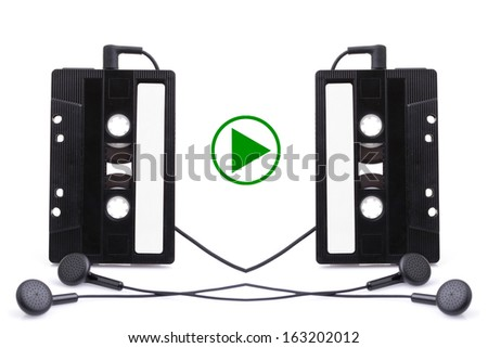 Audio cassete. music, sign - stock photo