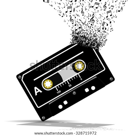 Audio cassette-Music - stock photo