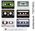 Audio cassettes set - stock photo