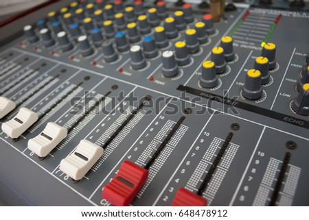 Audio control panel for conference room