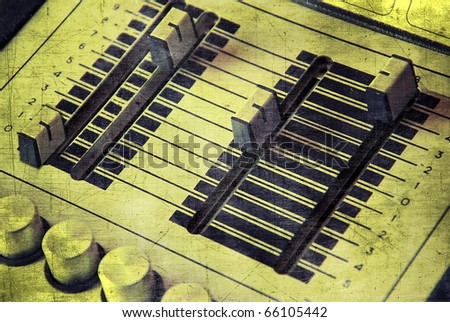 Audio equalizer in grunge style - stock photo