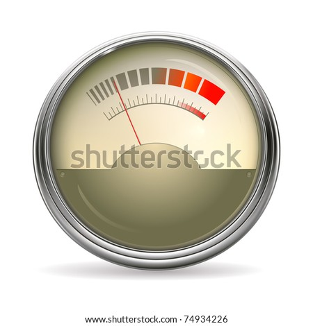 Audio Gauge, bitmap copy - stock photo