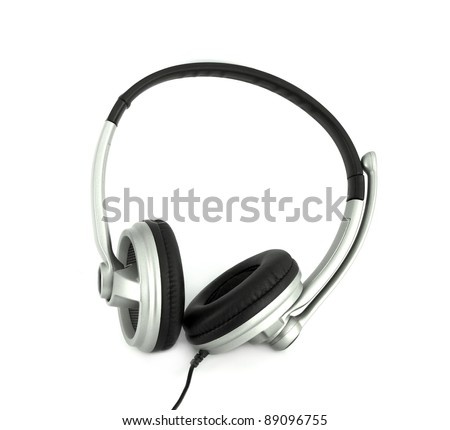 Audio headset with a micro (clipping path )
