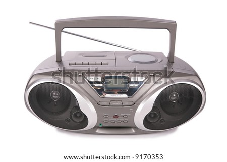 Audio mini-system, radio, player - stock photo