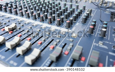 Audio sound mixer - stock photo