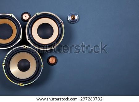 Audio Sound Speakers Collection Set - stock photo