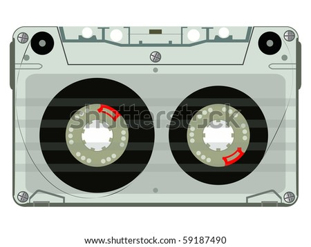 audio tape vector, abstract art illustration; for vector format please visit my gallery - stock photo