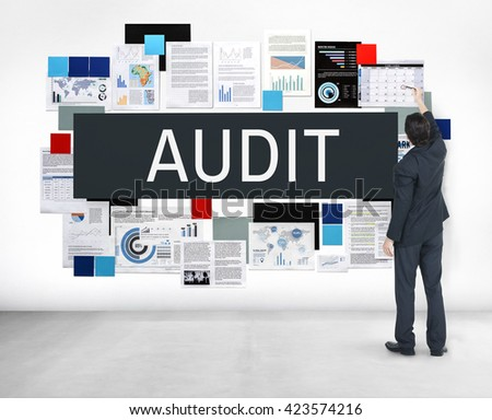 Audit Accounting Assessment Bookkeeping Concept - stock photo