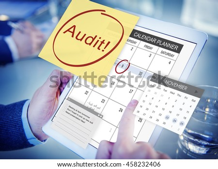 Audit Accounting Bookkeeping Credit Debt Finance Concept - stock photo
