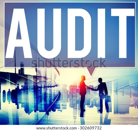 Audit Accounting Bookkeeping Finance Inspection Concept - stock photo
