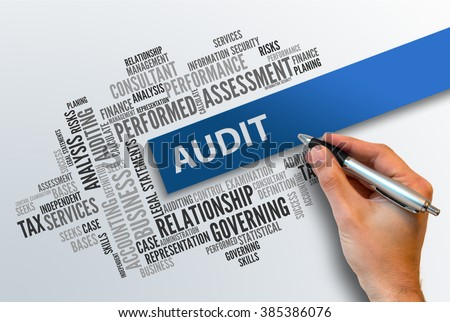 AUDIT | Business Abstract Concept - stock photo