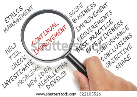 Audit, business conceptual focusing on Continual Improvement - stock photo