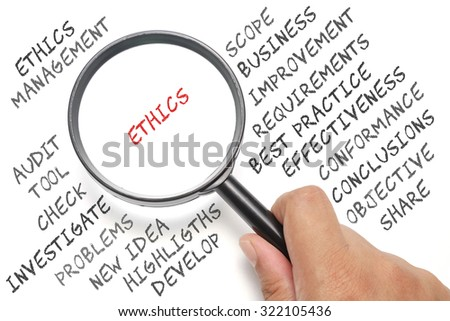 Audit, business conceptual focusing on Ethics - stock photo