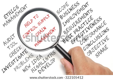 Audit, business conceptual focusing on Help To Control Supply Chain Management - stock photo