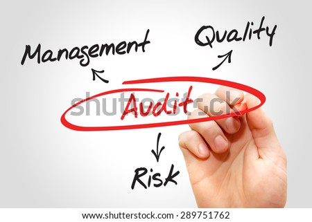 Audit chart, business concept - stock photo