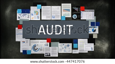 Audit Compliance Evaluation Financial Statement Concept - stock photo